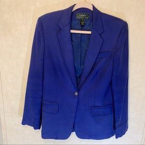 Lauren Ralph Lauren 100%Silk Blazer Size 6